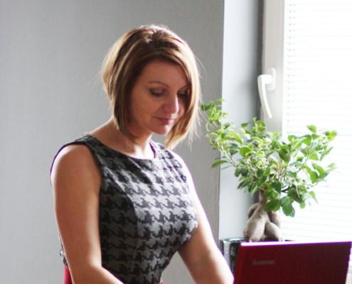 Helena Berger v kanceláři HB překlady