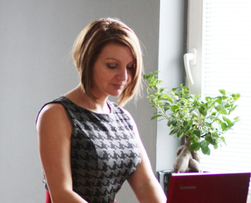 Helena Berger in office HB Translation
